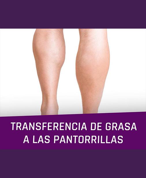 Transferencia de grasa a las pantorrillas